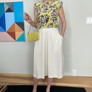 Oak & Fort white midi skirt